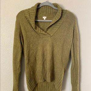 J.Crew Medium Green VNeck Pullover Sweater